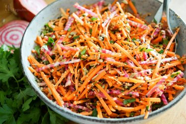 Beetroot and Carrot Salad with Orange & Sunflower Seeds