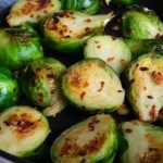 Spicy Stir Fried Brussel Sprouts
