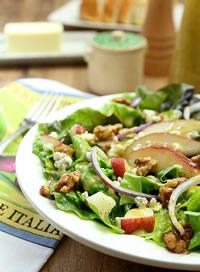 Walnut, Pear and Green Leaf Salad
